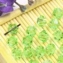 Beads, Auralescent Crystal, Crystal, Light green , Faceted Bicones, 6mm x 6mm x 5mm, 10 Beads, [ZZC189]